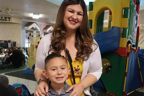 Happy mother and son at a Preschool & Daycare Serving Hesperia, CA